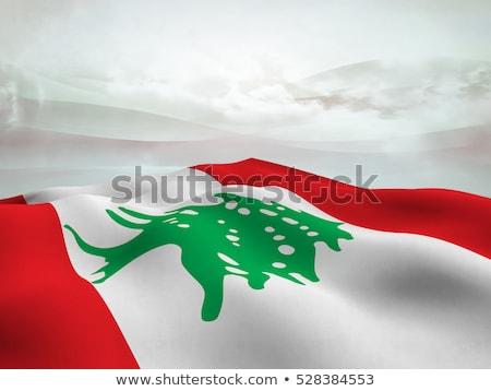 フラグ · レバノン · 孤立した · 白 · 3次元の図 · ラベル - ストックフォト © mikhailmishchenko