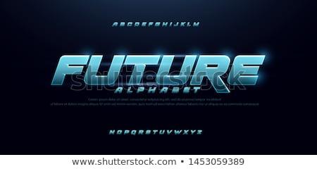 metal · futuro · texto · isolado · branco · assinar - foto stock © bosphorus