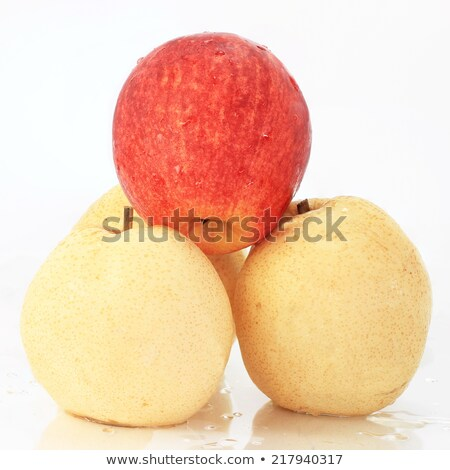 Yellow and red apples for sale Stock photo © elxeneize
