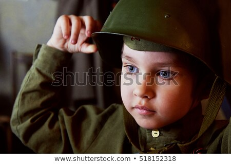 The soldier in the Russian military form Stock photo © fanfo