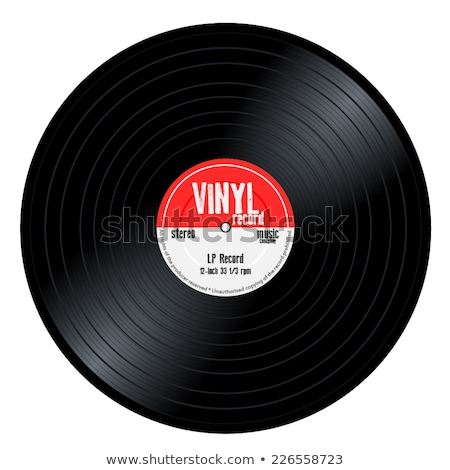 lp · lemez · piros · bakelit · zene · lemezjátszó - stock fotó © suljo
