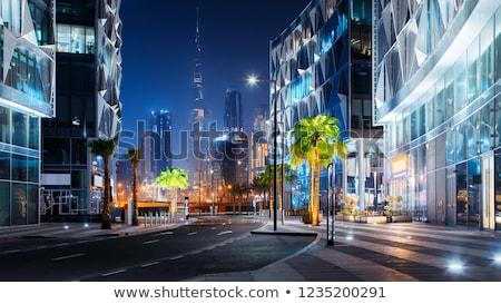 Centro da cidade Dubai edifício negócio céu cidade Foto stock © H2O