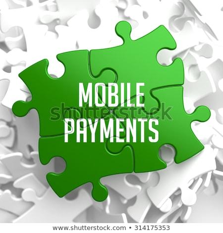 мобильных зеленый головоломки белый веб цифровой Сток-фото © tashatuvango