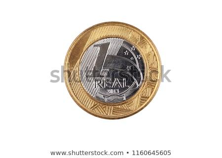 munten · witte · selectieve · aandacht · achtergrond · metaal - stockfoto © madelaide