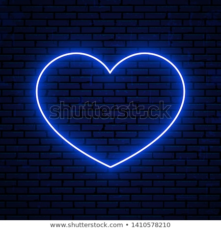 Heart blue Vector Icon Design Stock photo © rizwanali3d