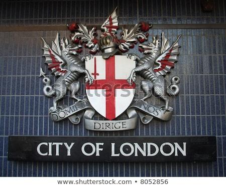 Stad Londen kuif abstract tekening witte Stockfoto © Bigalbaloo