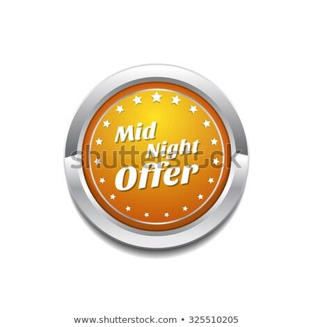 Midnight Offer Yellow Vector Icon Button Stock photo © rizwanali3d