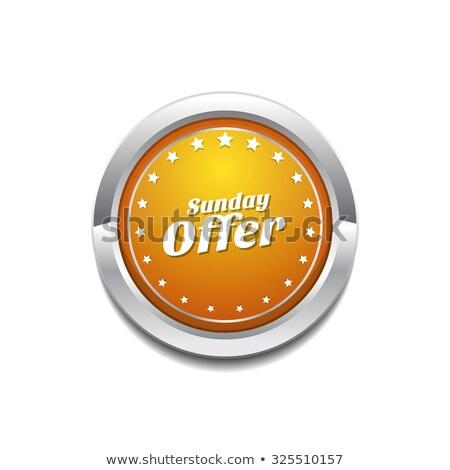 Sunday Offer Yellow Vector Icon Button Stock photo © rizwanali3d