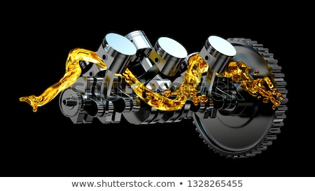 Gears and Cylinders 3D Stock photo © giko