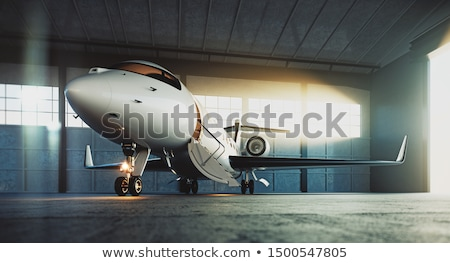 Private corporate jet parked in a hangar Stock photo © juniart