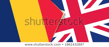Reino Unido Chade bandeiras quebra-cabeça isolado branco Foto stock © Istanbul2009