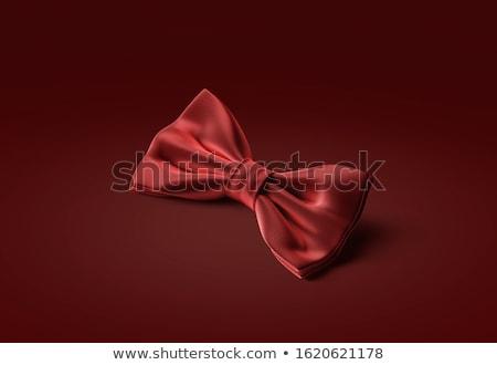 fekete · nyakkendő · iroda · esküvő · pillangó · divat - stock fotó © jordanrusev