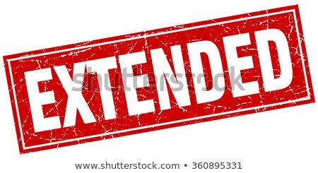 Red stamp on a white background - Extended Stock photo © Zerbor