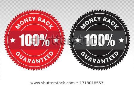 Stok fotoğraf: Para · geri · garanti · sarı · vektör · ikon