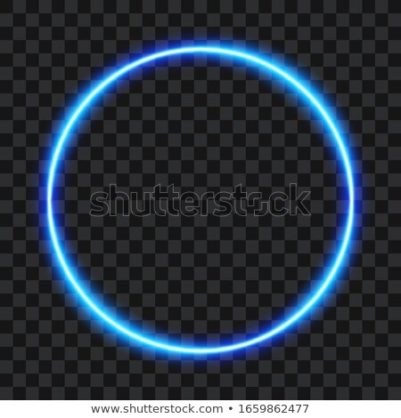 Glow blue neon vector ring shiny background Stock photo © saicle
