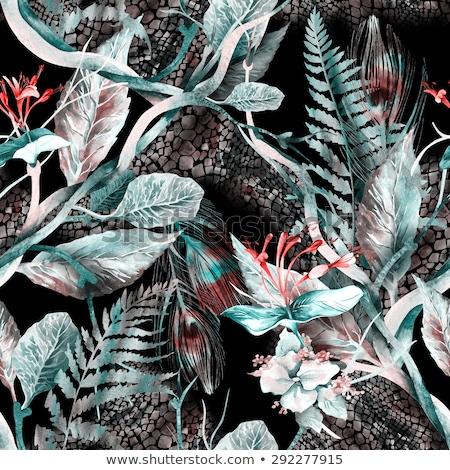 ilustração · preto · couro · animal · imprimir · agenda - foto stock © gigi_linquiet