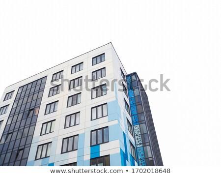 Yalıtılmış modern bina dizayn beyaz uzay metin Stok fotoğraf © maxmitzu