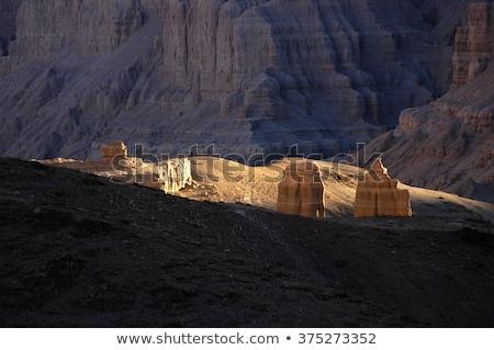 Foto stock: Paisagem · ocidente · tibete · terra · floresta · pôr · do · sol