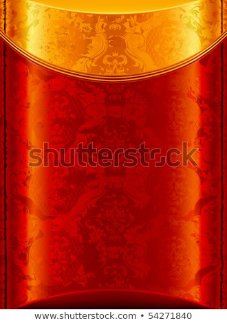 Vintage red and yellow vignette vector background. Stock photo © tuulijumala