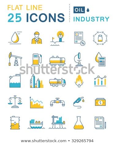 vat · dollar · symbool · dun · lijn · icon - stockfoto © rastudio