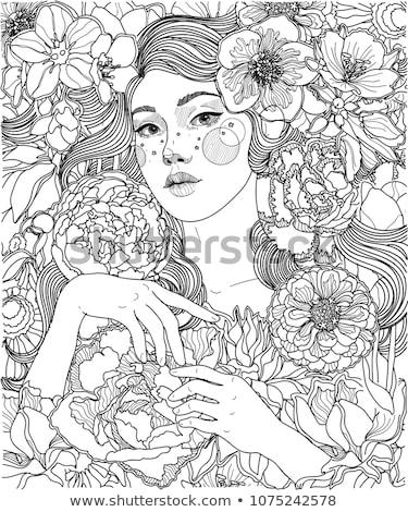 Fiatal fehér tündér növényvilág nő lány Stock fotó © konradbak