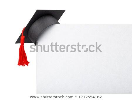 卒業 · キャップ · 白 · 紙 · デザイン · 芸術 - ストックフォト © timurock