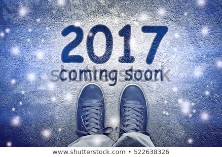 happy new 2017 sneakers from above stock photo © stevanovicigor