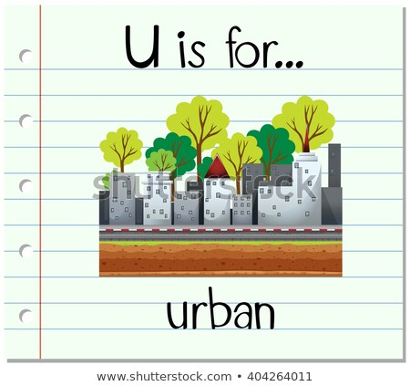 Flashcard letter U is for urban Stock photo © bluering