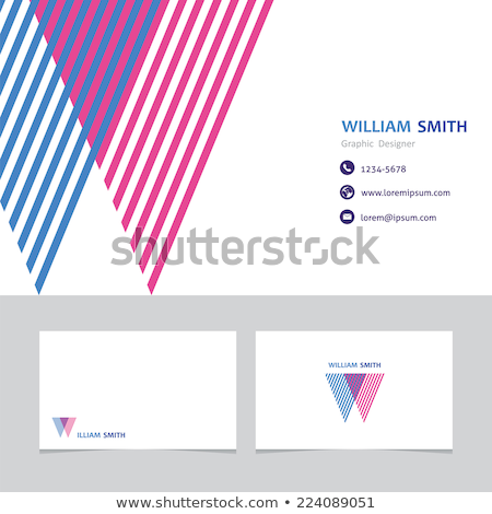 abstract colorful business card business vector design illustra stock photo © sarts