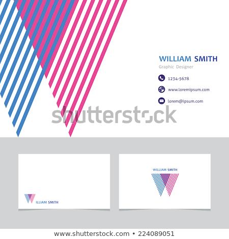 Résumé coloré carte de visite affaires vecteur design Photo stock © SArts