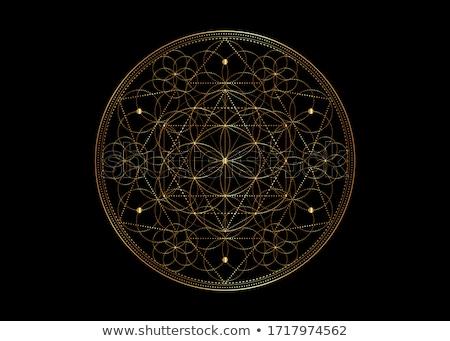 Sacré symbole résumé carte affiche religion Photo stock © SArts