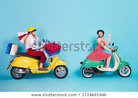 Retro lady enjoys the sale Stock photo © studiostoks