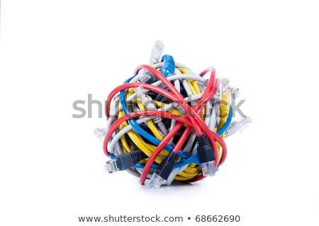 yellow cord ball closeup stock photo © pashabo