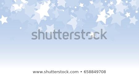 Négyszögletes keret kicsi színes hópelyhek réteges Stock fotó © SwillSkill