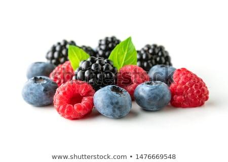 Friss bogyók fehér szeder gyümölcs eper Stock fotó © M-studio