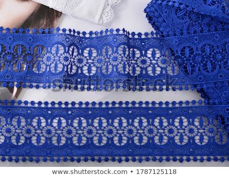 藍色 絲綢 胸罩 上 孤立 商業照片 © sapegina