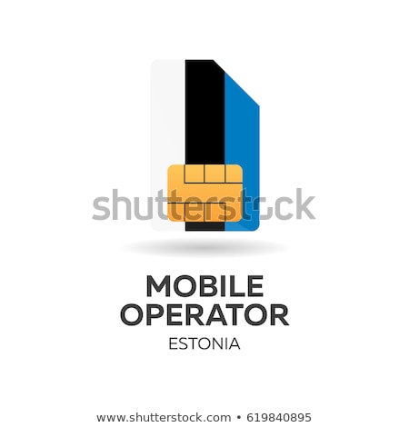 Estonia mobile operator. SIM card with flag. Vector illustration. Stock photo © Leo_Edition