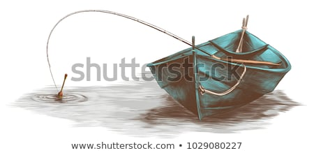 Fisherman in a boat on the lake  Stock photo © orla