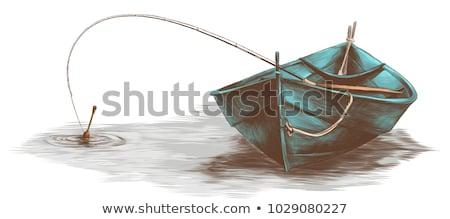 Halász csónak tó reggel 3d render illusztráció Stock fotó © orla