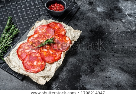 Chorizo salami peterselie witte Rood Stockfoto © Digifoodstock
