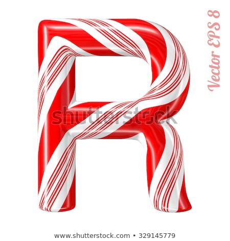 R betű cukorkák kártyák gyerekek tanul ábécé Stock fotó © Olena