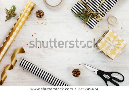 松 コーン ラッピング 木製のテーブル ストックフォト © wavebreak_media
