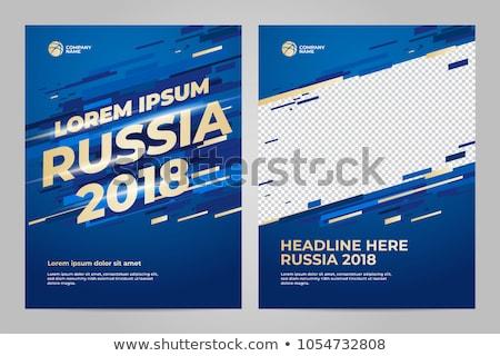 soccer tournament game poster flyer design background Stock photo © SArts