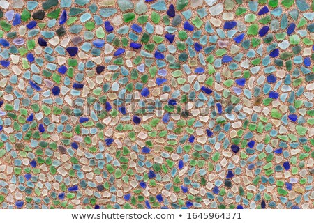 Spleet patroon gebroken groene glas oppervlak Stockfoto © stevanovicigor