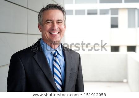 肖像 ビジネスマン 外 ビジネス 技術 庭園 ストックフォト © IS2