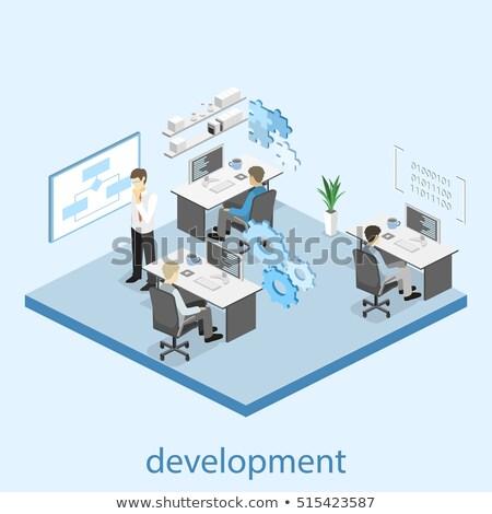 время анализ информации 3d иллюстрации бизнеса Смотреть Сток-фото © tashatuvango