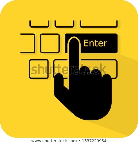teclado · azul · mlm · 3D · metálico - foto stock © tashatuvango