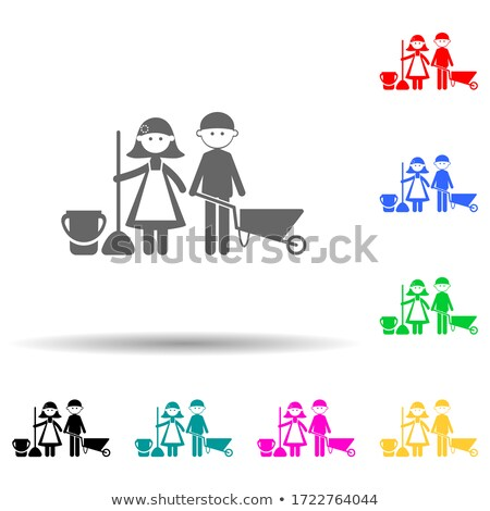 illustrationof caring for a child Stock photo © Olena