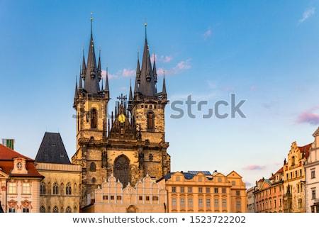 görmek · kilise · Prag · gökyüzü · Bina · mavi - stok fotoğraf © tuulijumala