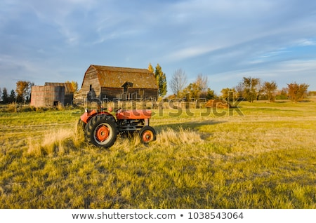 Abandoned old vehicle and farm house in Saskatchewan Stock photo © pictureguy